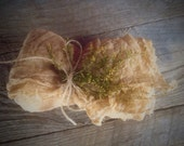 Primitive Cheese Cloth - Distressed & Baked - Sprigs of Sweet Annie - Christmas Bowl Filler - Thanksgiving Centerpiece -  Wedding Decor
