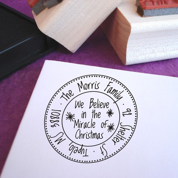 Miracle of Christmas Customized Address Stamp