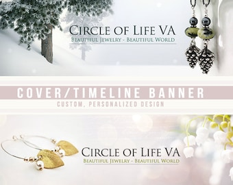 Timeline banner / cover banner and avatar set for your social media site