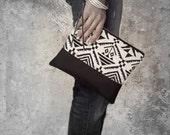 Woven Clutch Bag, Wristlet, Boho Purse