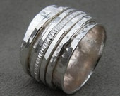 Silver Spinner Ring with 5 Spinners