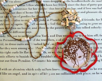 Necklace RePurposed Vintage Jewelry LoVely LadY Pendant