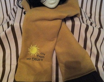 SUN and STARS fleece scarf