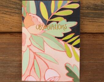 Floral Foil Notebook