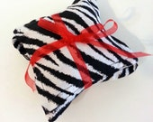 Black and White Zebra Dried Lavender Sachets Set of Three