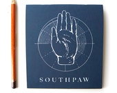 South Paw Screenprinted Notebook