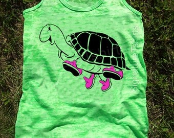 Turtle Workout Tank, Gym Tank, Running Tank, Gym Shirt, Running Shirt, Workout Shirt, workout clothes, running shoes, Fitness tank top