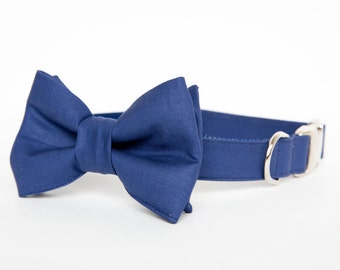 Dog Bow Tie Collar - Navy Gentleman's Collar