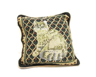 80s Pillow Cover Vintage Tapestry Cat Kitten Kitty Kitsch Cute Case
