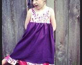 Little Summer Frock in Linen Fabric Size 5