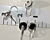 14 pair  Platinum look bezel tray lever back leverback earring settings for 12mm cabs photos glass jewelry supplies findings