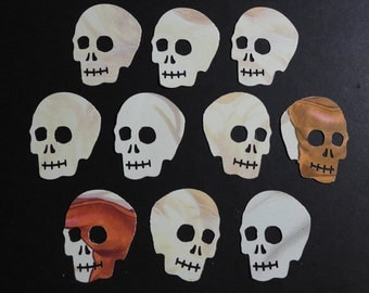 Grey Skulls Die Cuts