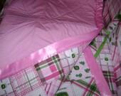 John Deere Light Pink Matching crib Bedding Set