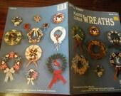 Plastic Canvas Patterns Wreaths Kappie Originals 124 Pattern Leaflet