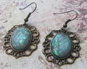 Aqua Frame Earrings