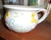 Vintage Pottery Baby Bowl or Cup Planter Marked C-7130