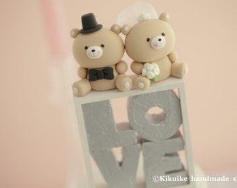 bears wedding cake topper---k926