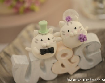 cat and kitty Wedding Cake Topper---k845