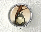 Under the Tree - Tonari no Totoro -  original art pill box - single or triple compartment