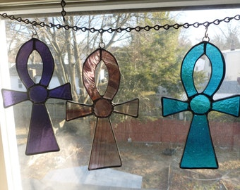 Stained Glass Ankh Cross