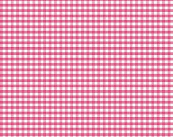 Small Hot Pink Gingham C440-70 from Riley Blake Fabrics 1/2 yard