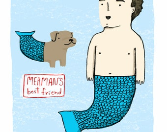 Merman's Best Friend PRINT