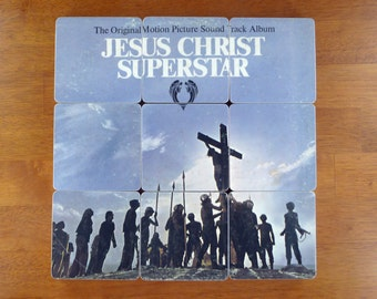 JESUS CHRIST SUPERSTAR recycled album art coasters with wacky record bowl
