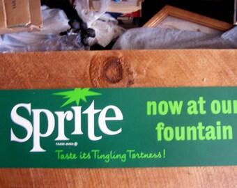 Vintage Original Soda Fountain Sign - 1960's Fresca ( Coca- Cola ) Cardboard channel sign.
