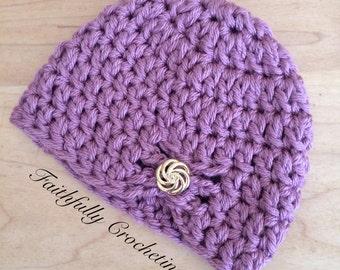 Newborn hat.. Chunky style beanie... Ready to ship
