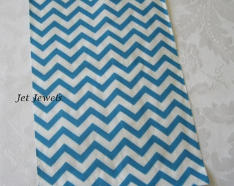 100 Paper Bags, Gift Bags, Blue Paper Bags, Blue Chevron Bags, Candy Bags, Paper Bag, Gift Bag, Party Favor Bags, Stripe Bags 6x9