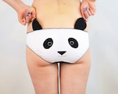 Panda face panties with ears lingerie underwear knickers