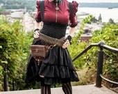 Plus Size Steampunk Bustle Dress - Womens Halloween Costume - Airship Mechanic Jumper -Custom to your size 3XL-5XL