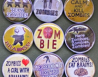 Zombie Hunter Magnets - One Inch
