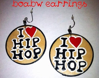 I love Hip hop Earrings