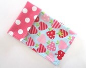 Strawberries & Dots double sided children's napkin