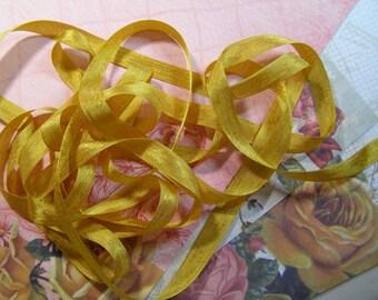 Vintage Golden Taffeta Seam Binding Ribbon