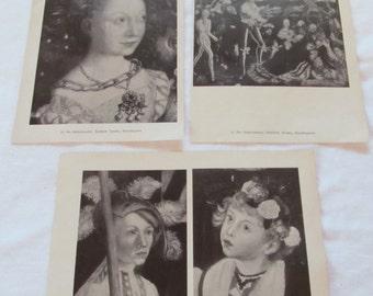 vintage DER KATHARINENALTER prints from an antique German book --gorgeous Gothic German script
