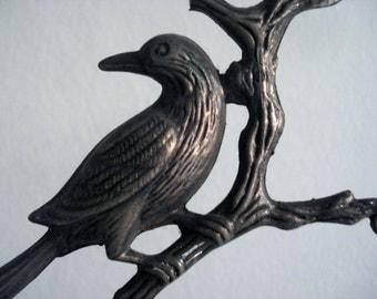 SALE -- Bird statue jewelry holder