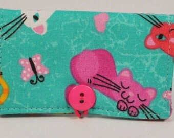 Fabric Business Card Holder Cat