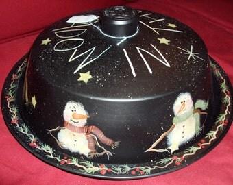 SALE!  Snowman Painting on Tin Pattern