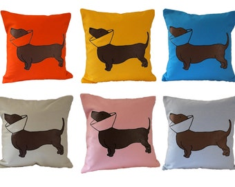 Cone Dog Pillow *No Cushion* / Dotson Pillow / Doxie Pillow / Dachshund Pillow