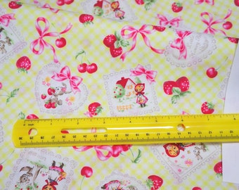 Little  red riding hood  japanese Fabric fat quarter (N132)