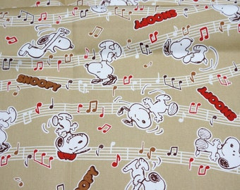 Peanuts Worldwide LLC Licensed fabric fabric Snoopy Print Japanese Fabric 50 cm by 106 cm or 19.6 inch by 42 inch