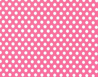Fat Quarter - Kiss Dot Fabric in Blossom Pink by Michael Miller Fabrics CX5518-Blossom