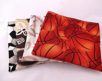 Sports 4 Pack of Reusable Snack Bag