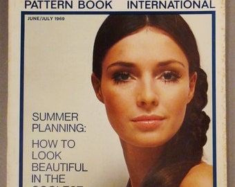 Vintage VOGUE Pattern Book Fashion JUNE JULY 1969  Rare great Condition