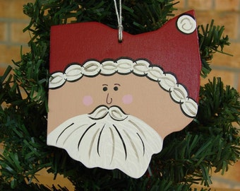 Ohio Santa Ornament