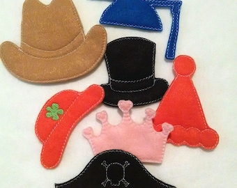 Hats addon for our Spud felt game set educational game learning toy Eco-Friendly #3879