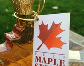 100% Pure Vermont Maple Syrup in Decorative GLASS Maple Leaf Bottle