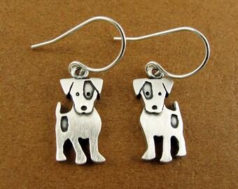 Jack Russell terrier earrings